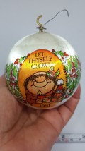 Satin Ball Monk Christmas Ornament Let Thyself Glow 1981 • pre-owned • w... - $15.79