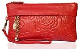 BDF Women Clutch Wallet Rose Flower Printed Clutch Bag women card holder... - $37.96