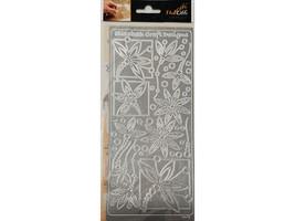 Elizabeth Crafts Design Peel-Offs Outline Stickers, Dragonfly Flowers #0442