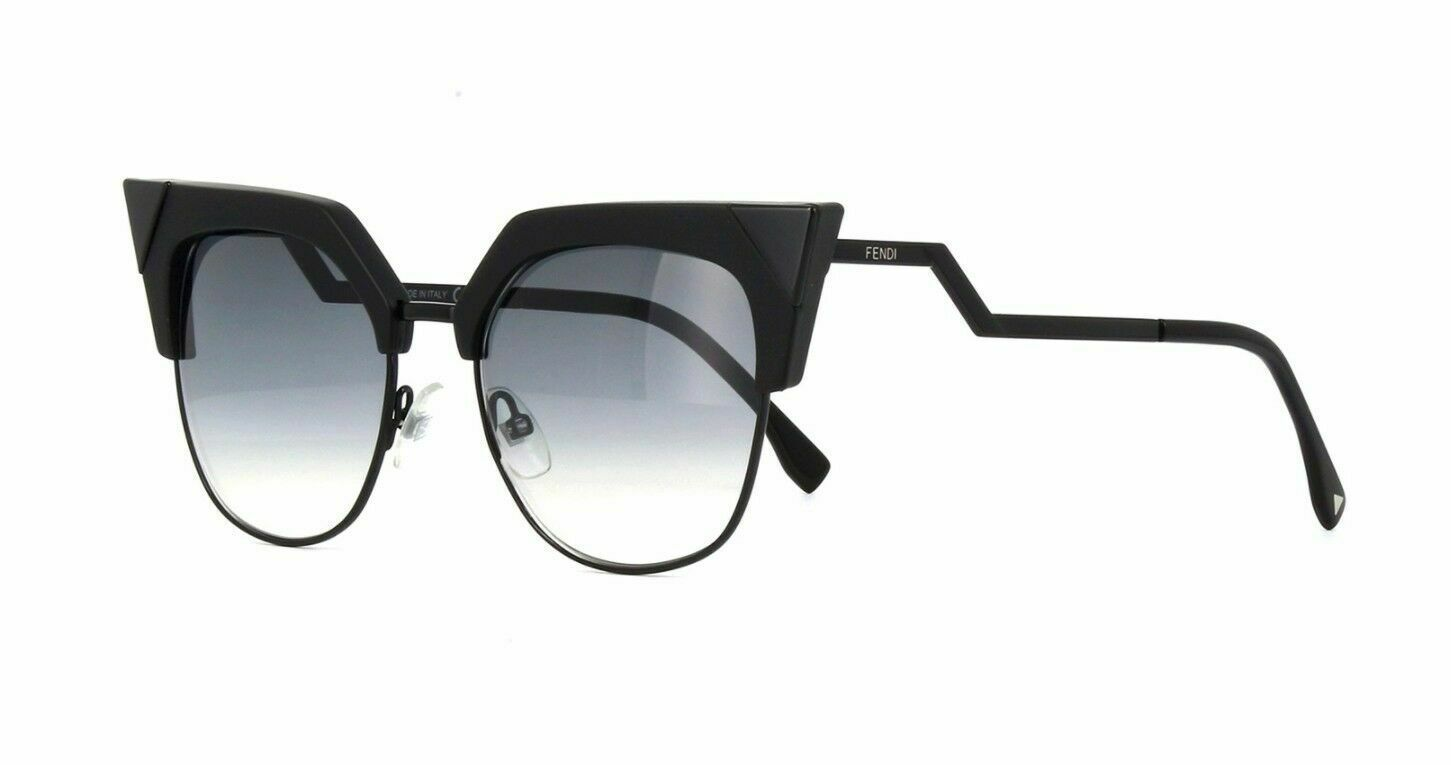 NEW FENDI IRIDIA FF 0149/S Black/Grey Shaded (807/9O B) Sunglasses