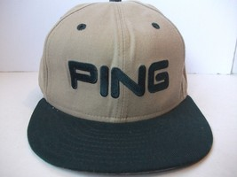 Ping by Karsten Golf Hat 7.5 Fitted Wool Beige Baseball Cap Made in USA - $15.36