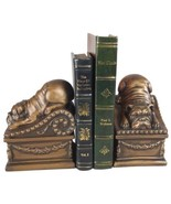 Bookends Bookend TRADITIONAL Antique Reclining Bulldog Dogs - $189.00