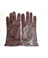 Ladies Genuine Leather Driving Gloves, Brown,XLarge - $37.12