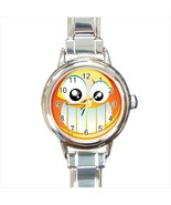 Smiley Face  With Teeth Round Italian Charm Watch - $19.95
