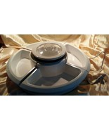Oster Lazy Susan with Center Electric Warming Pot, White NEW TSP200 - $11.87