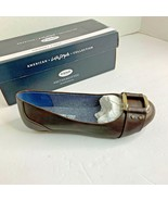 Dr Scholls Womens Sz 6 M Shoes Frankie Dark Brown Flat Shoes Buckle Toe - $37.39