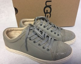 UGG Australia TAYA Oyster LEATHER FASHION SNEAKERS WOMENS 1006828 Lace U... - $59.99