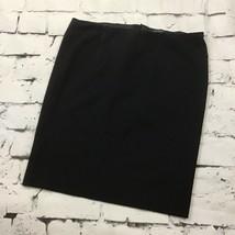 Ann Taylor Black Skirt Size 12 Straight Back Zip - $12.86