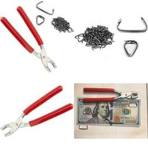 Small Hog Ring Pliers 100 Rings 3/4 Kit for Automotive Upholstery Supplies Tools - $23.33