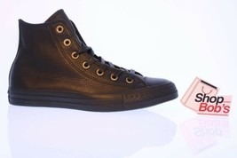NIB Converse Custom Chuck Taylor All Star Black Leather High Top Shoe Sz... - $97.96