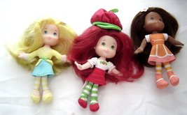"Strawberry Shortcake 6"" Plush Soft Dolls Lot Lemon Meringue Orange Bloss... - $49.99"