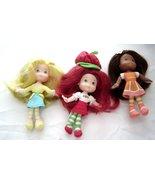 "Strawberry Shortcake 6"" Plush Soft Dolls Lot Lemon Meringue Orange Blossom Scent - £38.23 GBP"