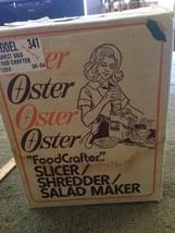 Vintage 1970s OSTER Food Processor Crafter Shredder Slicer Salad Maker - $68.31