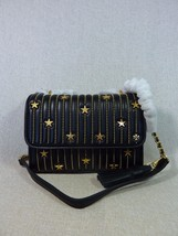 NWT Tory Burch Black Fleming Star-Stud Small Convertible Bag image 1