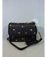 NWT Tory Burch Black Fleming Star-Stud Small Convertible Bag - $512.82