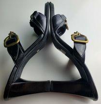 Franco Sarto Black Two Strap Women's Heels With Jewel Size 8.5 image 7