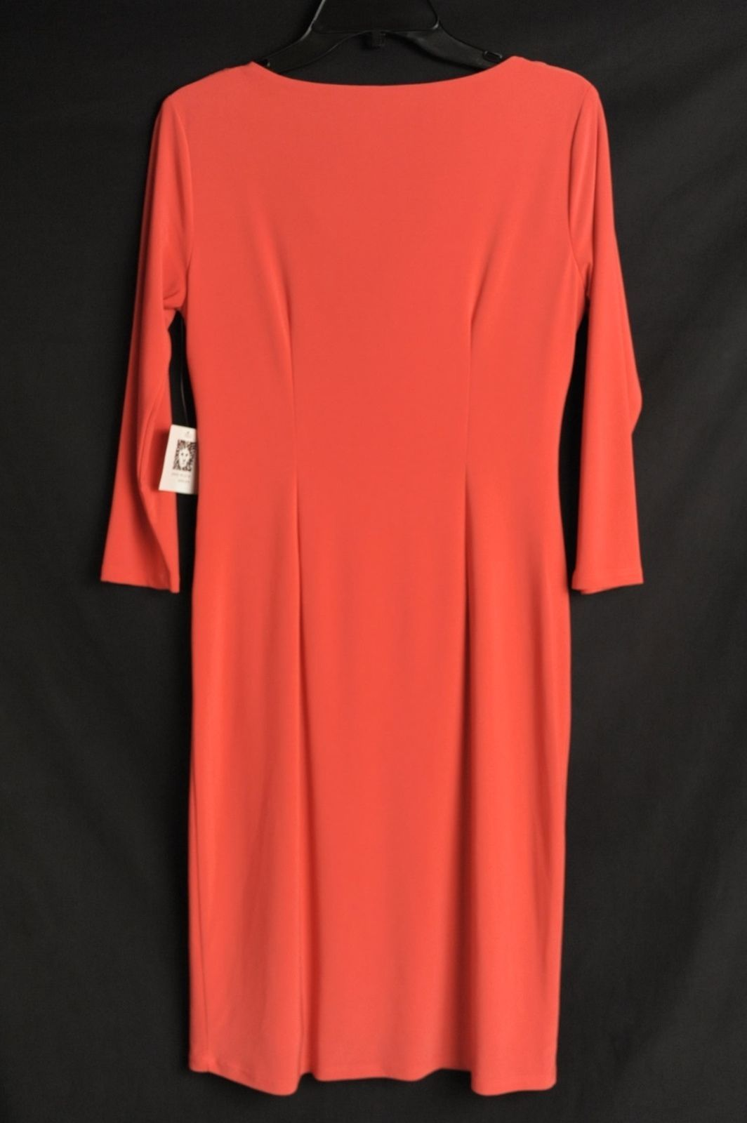 NEW Anne Klein Tuscan Cowl Knee-Length Stretch Sheath Dress Womens 4 $119