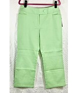 NEW INC International Concepts Macys Honeydew Green Capri Pants 8 Stretc... - $19.99