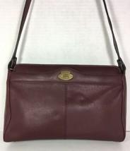 Etienne Aigner Vintage Maroon Soft Leather Shoulder Bag - $44.61
