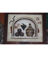Old Vintage Wall Hanging Wine Cellar Composition 3D Picture Wood Framed ... - $39.59
