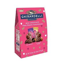 Ghirardelli Milk Chocolate 16.8 Oz XL Bag Valentine Duet Hearts Assortments - $19.75