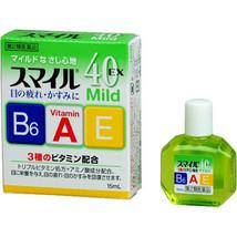 Smile 40EX mild 15mL eyedrops eye drops LION from Japan - $4.99