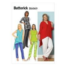 Butterick Patterns B6069 Women's Tunic and Pants Sewing Template, Size KK (26W-2 - $14.70