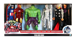 Titan Hero Series Marvel Avengers Initiative 6 Action Figure Set Hasbro ... - $97.51