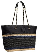 NWT 100% Authentic Tory Burch Marion Crochet Straw Tote Shoulder Bag in ... - $336.59