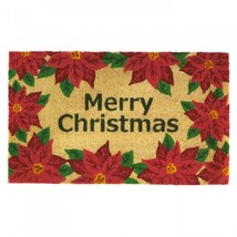 Christmas Poinsettia Welcome Mat - £12.72 GBP