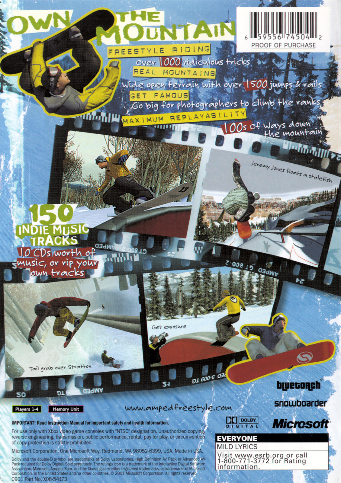 Amped Snowboarding Xbox OG