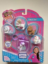 Puppy in My Pocket 5 PUPPIES & CLIP-ON POUCH Set  4y+ New - $5.00