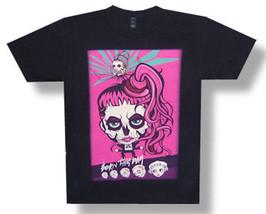 Lady Gaga-Skull Cartoon-Born This Way 2013 Tour-Black Lightweight T-shirt - $17.99