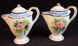 Occupied Japan Salt & Pepper Shaker Set Vintage Post War Pitcher Shaped - $15.83
