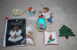 LOT Handmade Christmas Ornaments Egg Trees Angels Craft Kit - $13.32