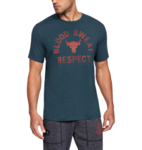 Under Armour Mens UA Project Rock Blood Sweat Respect Short Sleeve T-Shi... - $26.23