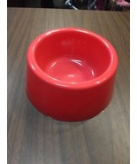 5 Inch Dog Bowl Solid Peach Color - $14.18