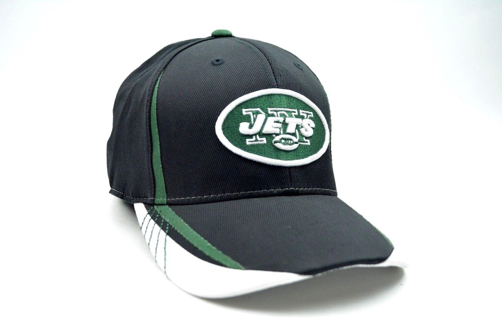 08ecc35616a New York Jets Reebok NFL Sideline Workout Warrior Stretch Fit Cap Hat Sm Med