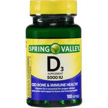 Spring Valley Vitamin D3 Softgels, 5000 IU, 100 Count.. - $13.85