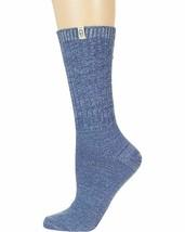 UGG Rib Knit Dark Ice / Marlin Blue Women's Slouchy Crew Socks 1014832 - $16.95