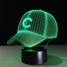 LED mlb Chicago Cubs Baseball Hat Night Light Touch cap helmet Desk Lamp... - $26.99