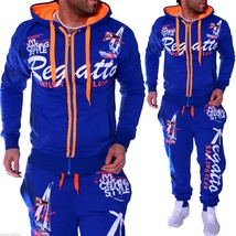 Men Sport Tracksuit Casual Letter Printed Hoodie Coat Leisure Trousers for Male  image 4
