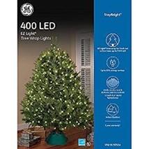 GE 400 LED EZ Light Tree Wrap Lights Warm White Stay Bright New - $22.76