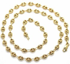 MASSIVE 18K YELLOW GOLD BIG MARINER CHAIN 5 MM, 20 INCHES, ITALY MADE NECKLACE image 1