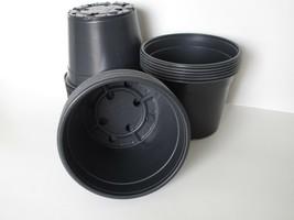 "Set of 100 - 6"" Round Black Nursery Pots DILLEN plants flower pot plasti... - $39.59"