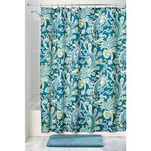 InterDesign Multi Harper Paisley Fabric Shower Curtain - 72 x 72, Teal - $17.65