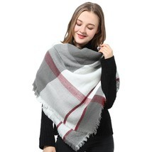 Women Blanket Warm Soft Scarf Plaid Pashmina Winter Wrap Shawl Gifts Gra... - ₨1,234.29 INR