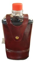 Leather Flask with zippered pouch for storage - $28.00
