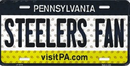 Steelers Pennsylvania State Background Metal License Plate Tag (Steelers... - $11.95