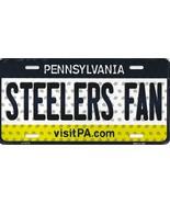 Steelers Pennsylvania State Background Metal License Plate Tag (Steelers... - $11.95